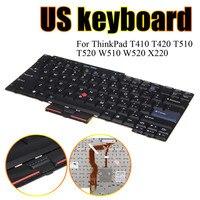 Preto Teclado DOS EUA Para O Lenovo ThinkPad T410 T420 T510 T520 W510 W520 X220 Lactop Teclados Periféricos de Computador