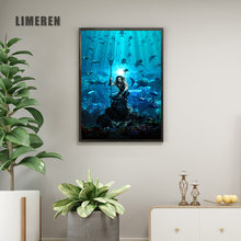 Canvas Art Print Canvas Painting Poster DC Superhero Aquaman Wall Pictures for Kids Room Decoration No Frame(China)