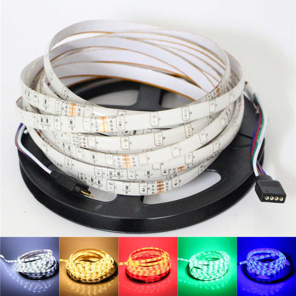 12v 2835/3528 smd led strip light 1m 5m 60led/m ip65 waterproof / ip20 non-waterproof flexible led rope tape ribbon string lamp
