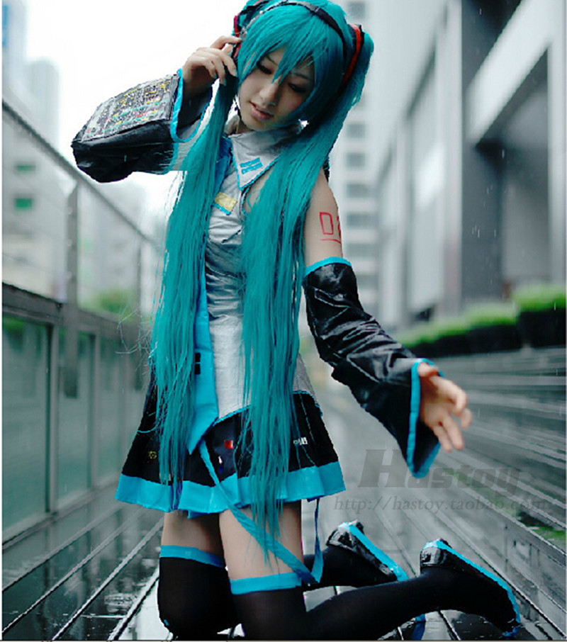 Anime Vocaloid Hatsune Miku Cosplay Costume Full Set With Shoes Princess Dress Singer in Stock Halloween Gift ZTF001