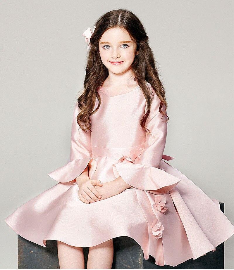 Autumn font b Winter b font New font b Girl b font Flower Dress Clothes Pink
