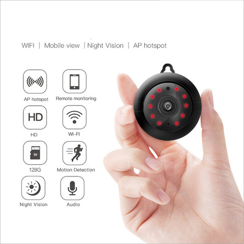 Tendway Mini Camcorders WIFI 720P IP Camera Wireless Small CCTV Infrared Night Vision Motion Detection SD Card Slot Audio APP Lahore