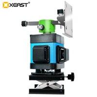 Xeast hot 12 라인 레이저 레벨 (타일 용) 셀프 레벨링 360 수평 및 수직 크로스 그린 3d 레이저 레벨