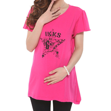 Summer Maternity Top T shirt For Pregnant Women Clothes Casual Tee Maternity Basic Shirts Wear 6