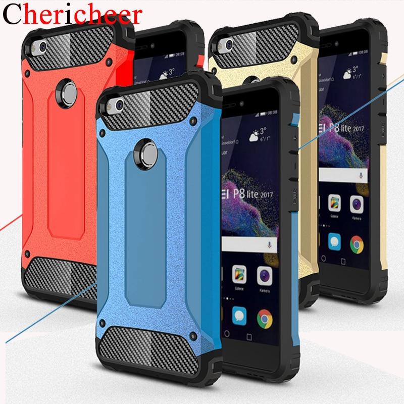 Силиконовый + Жесткий ПК Гибридный Броня телефон чехлы для Huawei P8 P9 P10 Lite Plus для Huawei P8 облегченная Чехол 2017 Для Huawei P10 облегченная Чехол