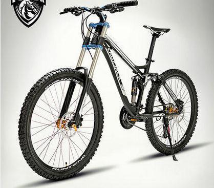 Kalosse 26*17 дюймов 6061 сплав 24/27 скорость AM/XC горный велосипед Полный Подвеска Горный велосипед