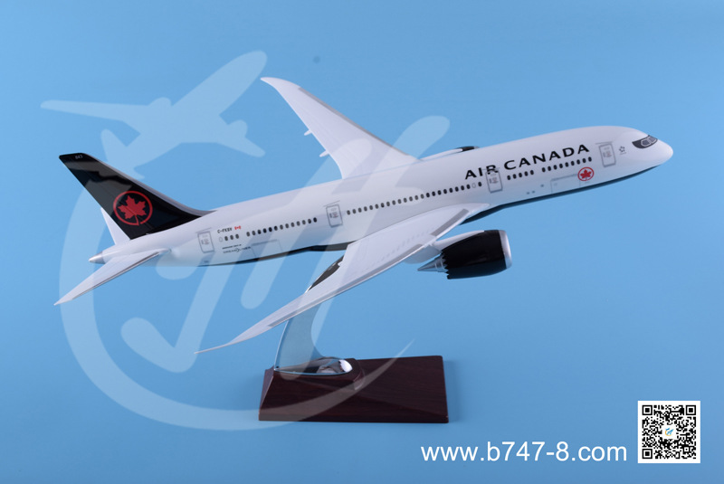 Black White 43cm Resin Boeing 787 Airplane Model Canadian Airlines Air Canada Airways Aircraft Airbus Plane Model Stand Craft