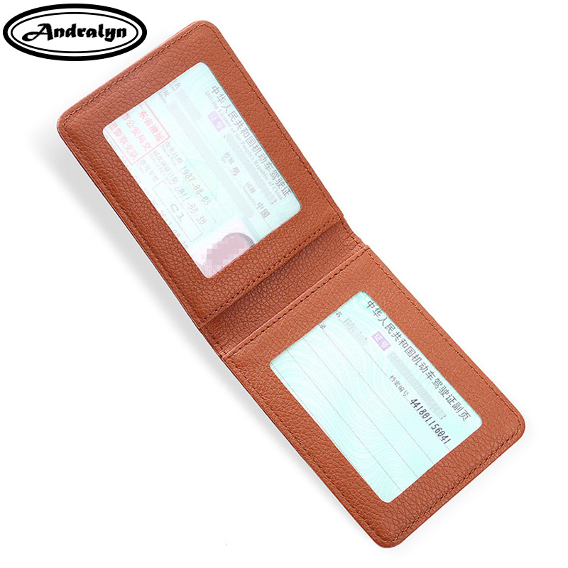 Andralyn Ultra Thin Unisex Motor Car Driver License Bag Bank Business Credit Card Holder Document Holder Wallet ultra thin colorfulcascading pull out card holder wallet