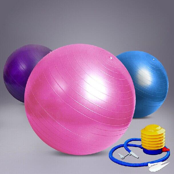 Frete grátis internacional de 65 cm de ginástica Fitness Pilates aeróbica Yoga  bola emagrecimento exercício bola com bomba dc7b50bddf738