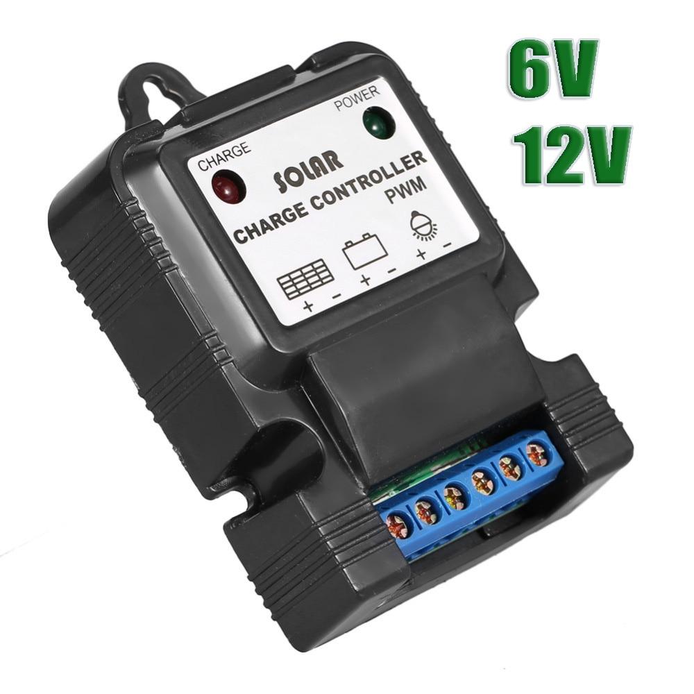 6V 12V 3A Solar cell panel Charge Controller for small solar kits batteries regulator 3a 6v 12v mini solar charge and discharge controller waterproof load working 24 hours