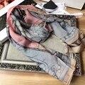 Brand New Высокого Качества Женщины Длинные Шелковый Женская Мода Платки и Шарфы Геометрический Узор Зимний Шарф Горячие Продажи BY1722414