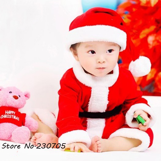 083e69b8ee9 NEW Baby Infant Toddler Christmas Hat Costume Photo Photography Prop  Christmas Clothing Santa Claus Costume Xmas