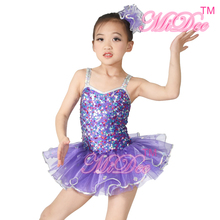 Girls Confetti Sequin Dress Dance Kostymer