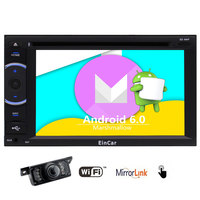 Android6.0 Quad core Car Stereo in Dash Double DIN DVD Player multi touch screen 16G ROM 1080P Video Navigation 3D Map WIFI+CAM
