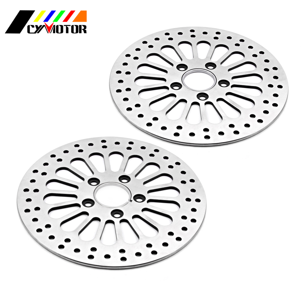 Motorcycle Front and Rear Brake Disc Rotor kit For HARLEY TOURING SOFTAIL SPORTSTER DYNA MODELS 1984 1985 1986 1987 1988-2013
