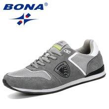 BONA – baskets respirantes en maille pour hommes, nouvelles chaussures d'été décontractées et douces, Krasovki, mode printemps automne 2019