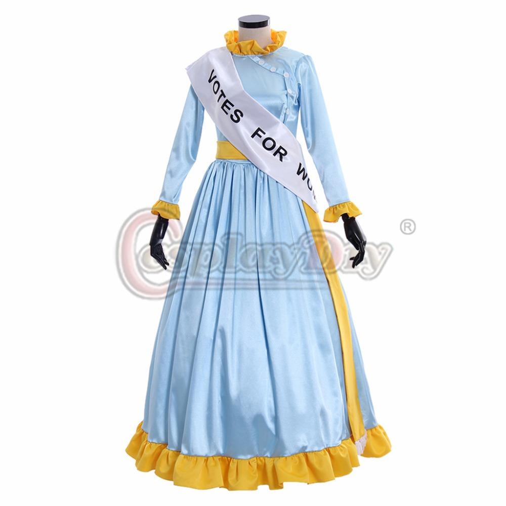 Cosplaydiy Mary Poppins Cosplay Costume Winifred Mrs Banks Dress Shorts Adult Women Halloween Christmas Party Costume L320
