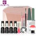 36W LED&UV Lamp French Manicure Kit 4 Colors Sapphire UV Gel Nail Art Tools Sets Kits Nail Gel Nails Tools And LED UV Lamp