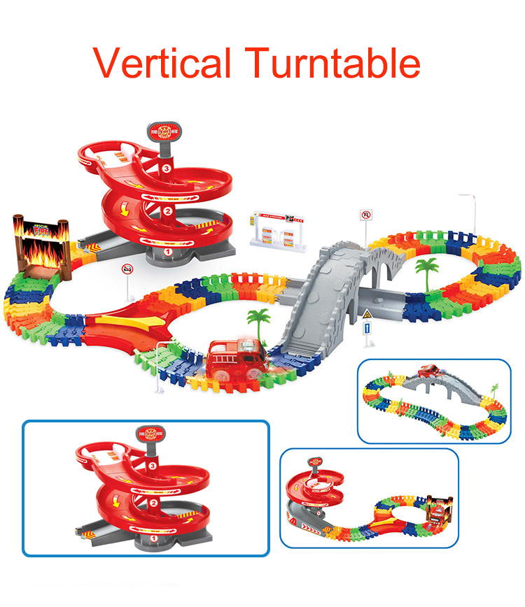 1pc Rotary Turntable Plastic Turntables For Tracks Car