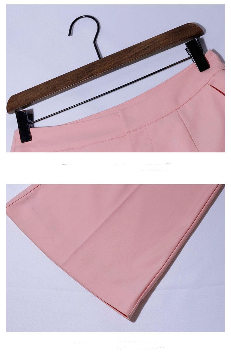 Mode Flare Rose Élégante Moulante Lâche Bureau Deux Pièces Travail Ensembles Costumes Dame Haute Femme Pantalons Blouse Manches De K708 Vêtements Taille rR6wrgxqCX