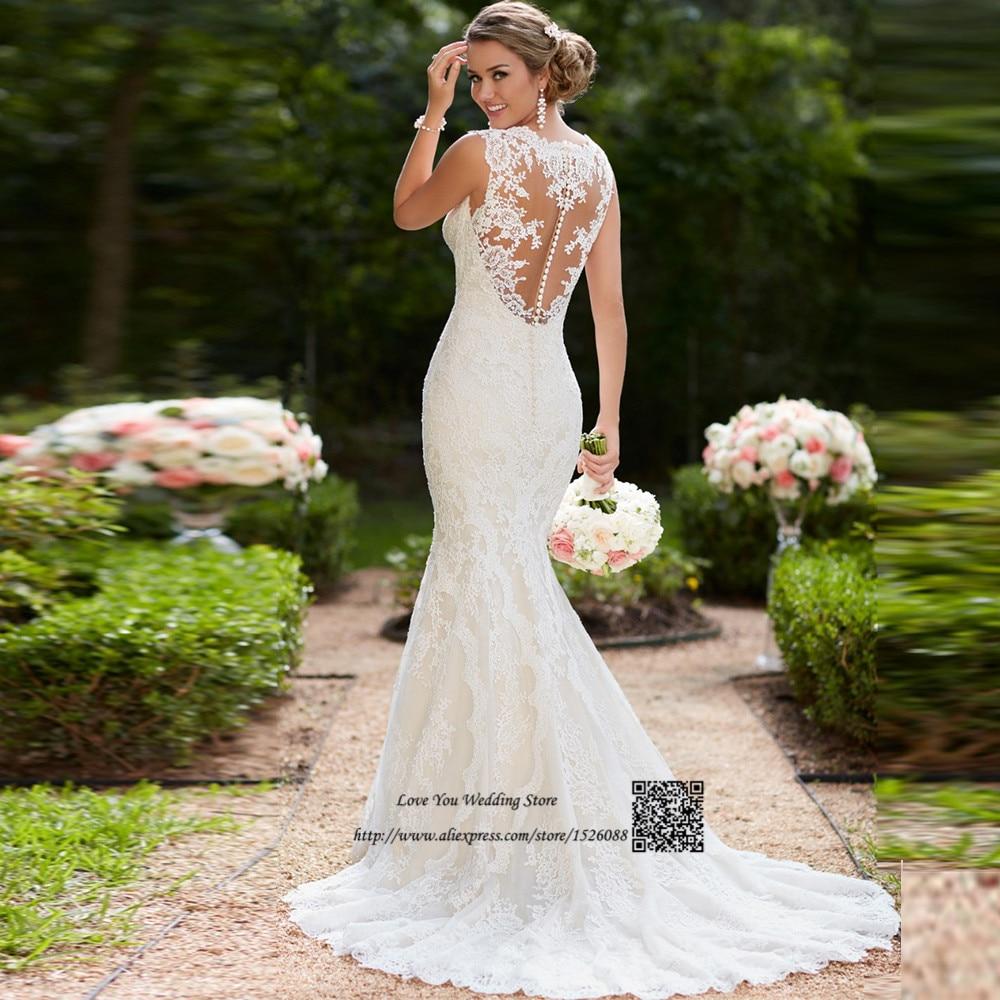 Vestido De Noiva Renda Vintage Lace Princess Wedding Dress: Vintage Mermaid Wedding Dresses Vestido De Noiva Renda