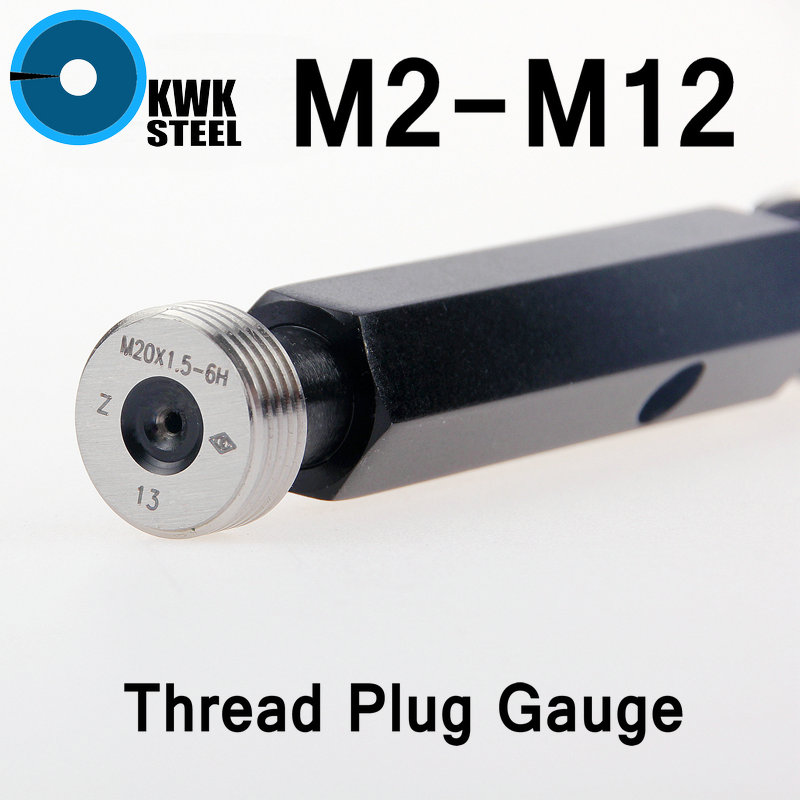 Thread Plug Gauge GO/NO GO Gage Metric Gauge 6H Precision Internal Screw Gage Fine Pitch Thread Test Tool Links HMCT Group metric bridge cam welding gauge mg 8 weld gage inspection ws genuine