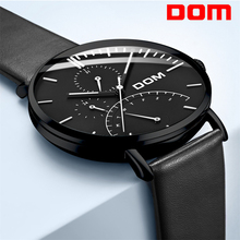 DOM Mens Watches Top Brand Luxury Multifunction Sport Military Quartz Watch Waterproof Week Calendar Business Clock