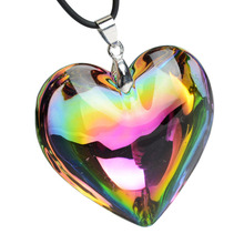 Романтический сердечный кулон ожерелье для женщин и девушек подарок для девушки Стекло Кристалл колье ожерелье ювелирные изделия Mulheres Mujer Collier Femmes