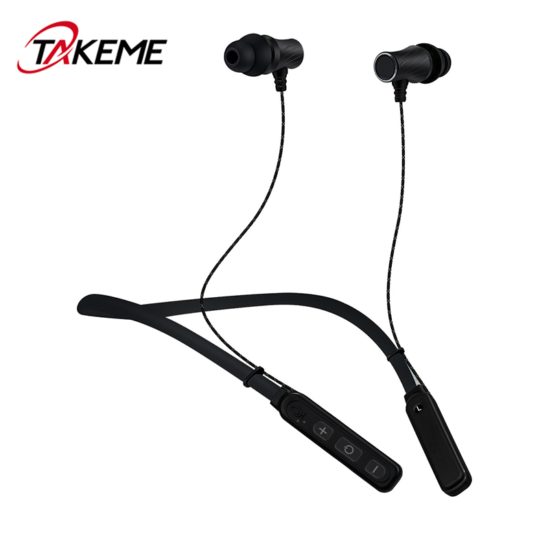 TAKEME Sports Bluetooth Earphone Wireless Headset Universal Stereo Headphone Handsfree With Mic For iPhone Samsung Sony Xiaomi hlton portable wireless bluetooth earphone handsfree mini headset stereo earbuds car fast charger with mic for smartphone pc