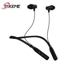 Cheaper TAKEME Sports Bluetooth Earphone Wireless Headset Universal Stereo Headphone Handsfree With Mic For iPhone Samsung Sony Xiaomi