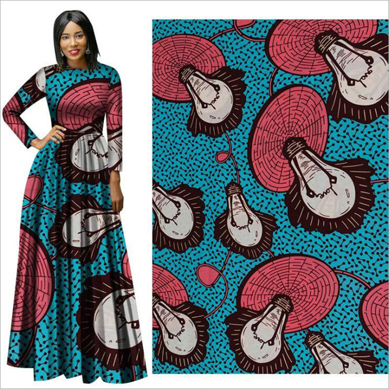 Me-dusa 2019 new Cartoon pattern African Print Wax Fabric 100% cotton Hollandais Wax DIY Dress Suit cloth 6yards/pcs Highquility(China)