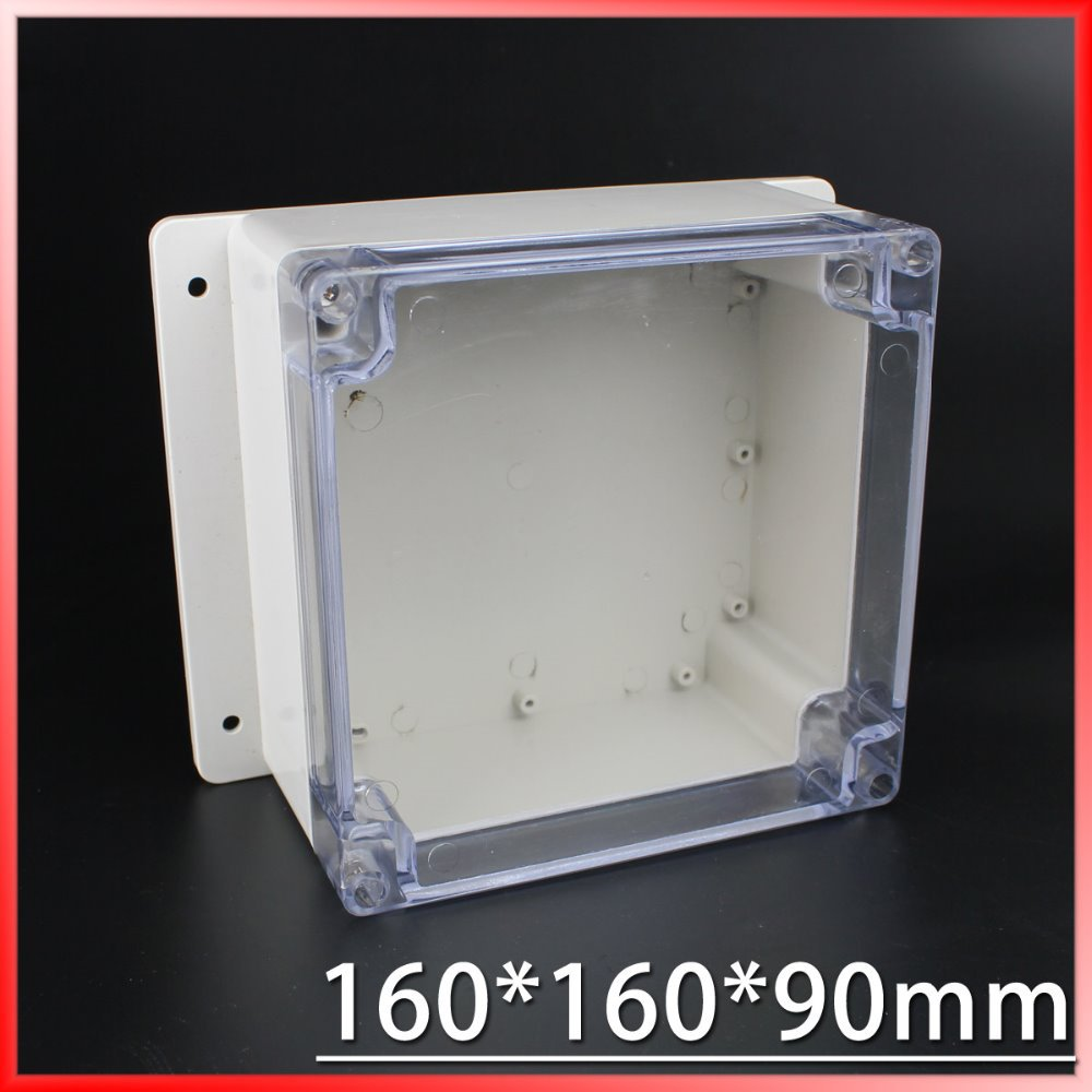 (1 piece/lot) 160*160*90mm Clear ABS Plastic IP65 Waterproof Enclosure PVC Junction Box Electronic Project Instrument Case 1 piece lot 320x240x110mm grey abs plastic ip65 waterproof enclosure pvc junction box electronic project instrument case