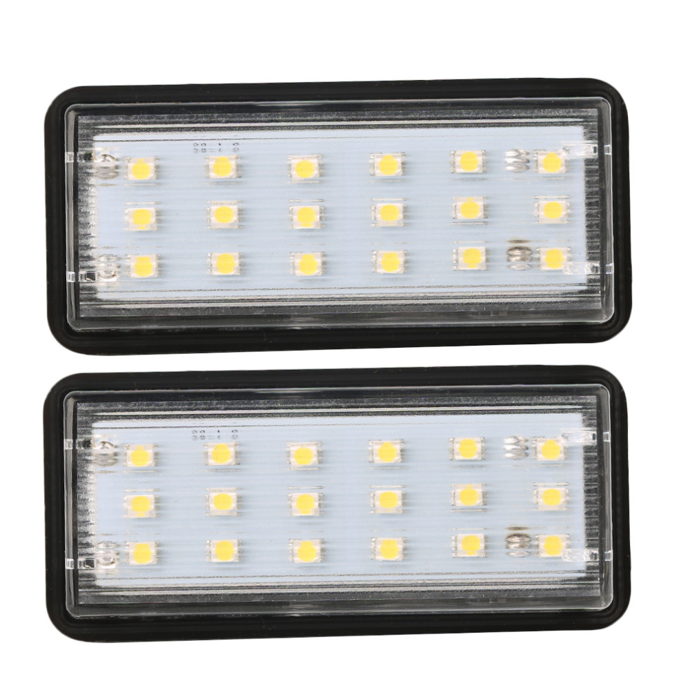 New 2pc Error Free LED SMD License Plate Light For Toyota For Land For Cruiser For Lexus For GX LX470 Car Styling Free Shipping free shipping 2pcs free error led license plate light for teana c25 c26 e11 e12 e52 e26 j31 j32 sc11 b17 g11 v12 l33 car styling