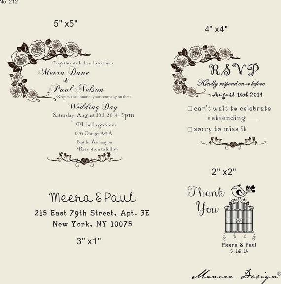 Diy Undangan Pernikahan Stempel Karet Set Dengan Kartu Undangan Dan