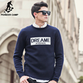 Pioneer Camp Fashion Sweaters men high Quality Brand-clothing Letter Jacquard casual Pullovers Christmas blue Sweater 611222