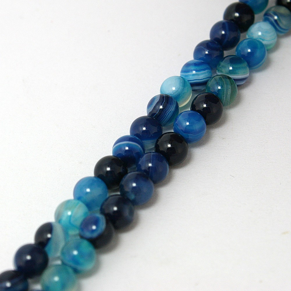 free-shipping-high-quantity-AAA-blue-stripe-Onyx-agate-Round-natural-stone-Loose-Beads-4Mm-6mm (2)