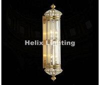 New Arrival Retro Brass Lamp 110V~220V Indoor/Outdoor Brass Wall Lighting D25cm H70cm/100cm Antique Bronze Living Room Lights