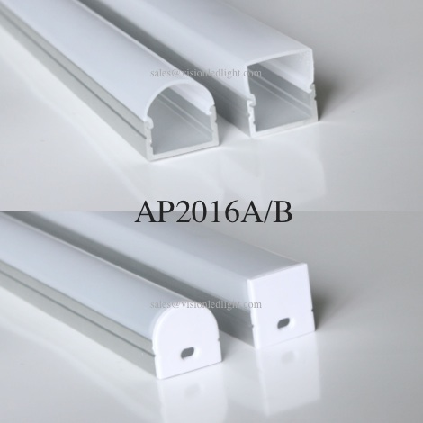20m(20pcs) a lot, 1m per piece, wide aluminum profile for led double row strips light two row led strips  5050 3528 2835 5630-in LED Strips from Lights & Lighting    2