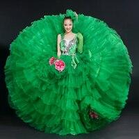 Flamenco Dance Dress Spanish Paso Doble Dance Costume Stage Performance Clothing Adult Flamenco Dresses for Girls