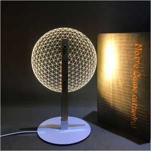 Image 5 - VIP Link 3D Effect Bloom Table Lamp Reading Novelty LED Night Light with  3D Optical Luminous Lampshades  Christmas Gift