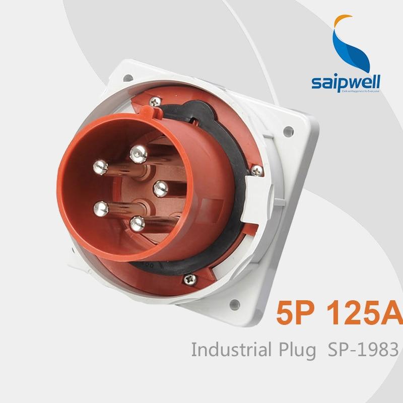 Saipwell IP67 5 pin Plug 125 amp Industrial Plug Electrical Plug Waterproof SP-1983 High Quality цены