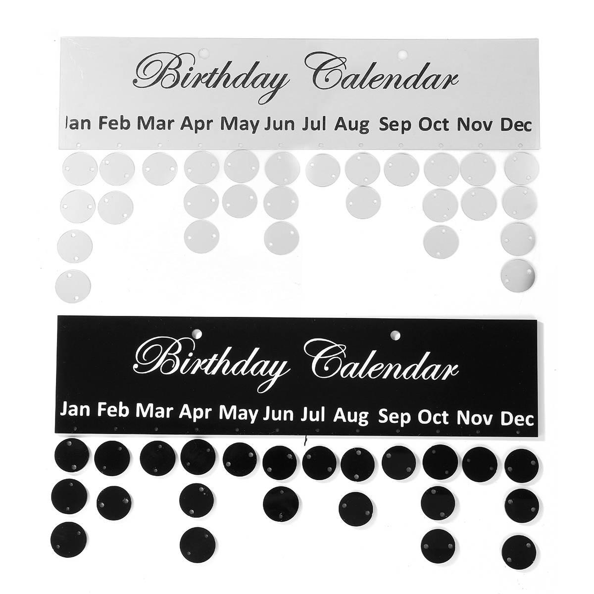 kicute 1 pc prata preto aniversario calendario 01
