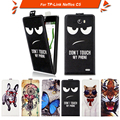 High quality fashion cartoon pattern flip up and down leather case for TP-Link Neffos C5,Free gift