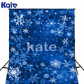 5x7ft(150x220cm) Frozen Backdrop Photography Christmas Snowflakes Fluttering Blue Space Christmas Backdrops Photography SD-115