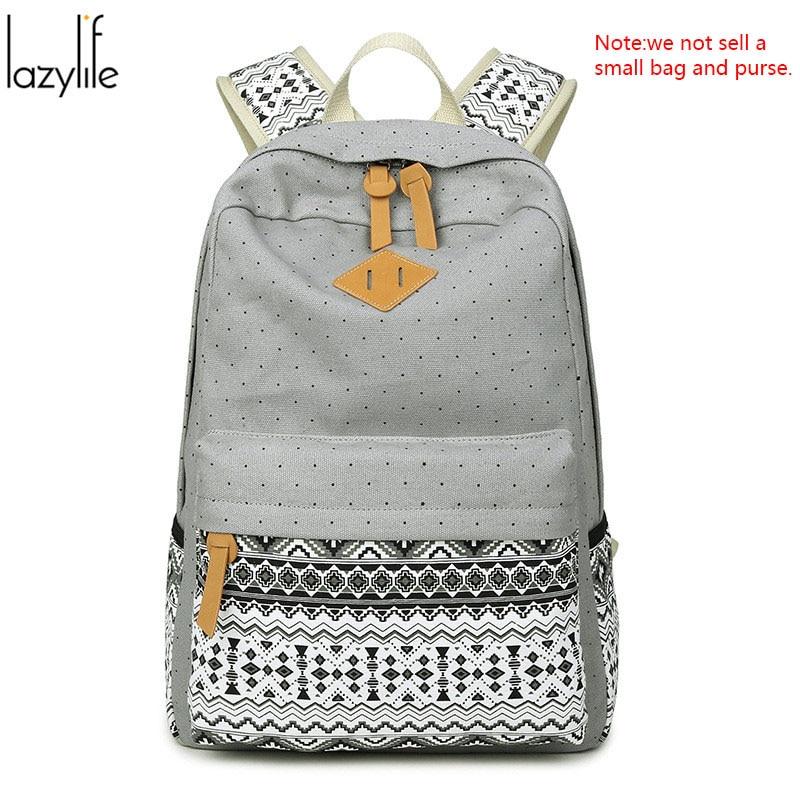LAZYLIFE Ships From RU Cheap Women Canvas Backpack Mochila Escolar Women School Backpack Rucksack Laptop Backpacks Travel Bags