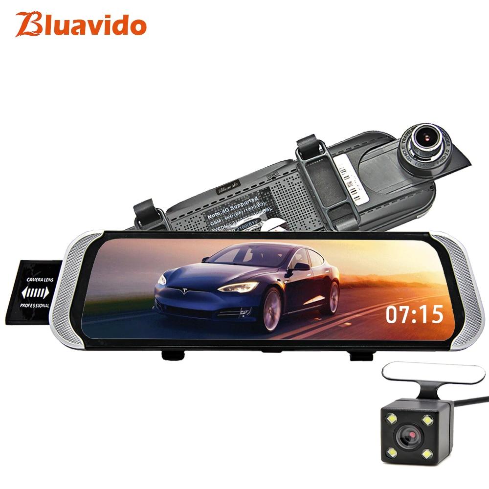 Bluavido 4G Android 10 автомобильное зеркало видео камера gps навигация Full HD 1080p зеркало заднего вида DVR рекордер телефон удаленный монитор