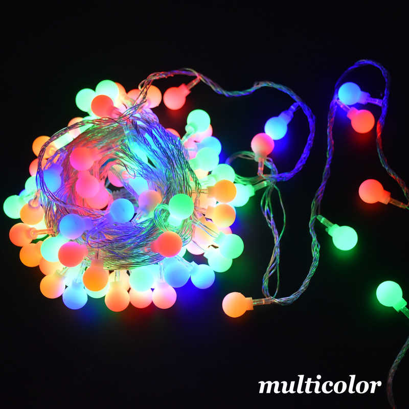 3m 6M 10M بطارية مقاوم للماء الجنية جارلاند LED الكرة مصابيح مرتبة على شكل شرائط للزينة شجرة عيد الميلاد الزفاف ديكور المنزل في الأماكن المغلقة