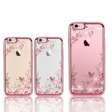 Glitter Case for iPhone 5 5s se Luxury Patterned Cases For X 8 7 6 6s Plus Cover Diamond Flower luxury Girly Phone Capa