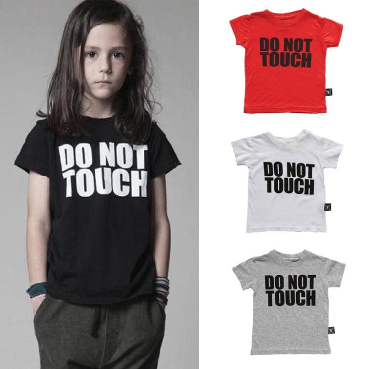 2015 new summer boys girls Letter printed T shirt kids Tees baby ...