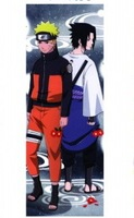 Home Decor Naruto Shippuden Anime Sasuke & Uzumaki 150*50CM Wall Scroll Poster #22647